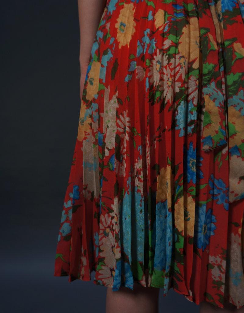 70s Plissé Paulette Dress