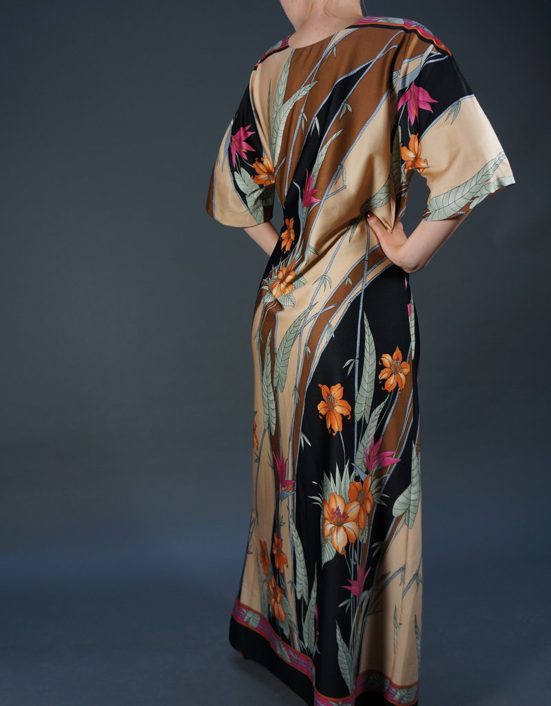 70s Flower Maxi Dress Ella