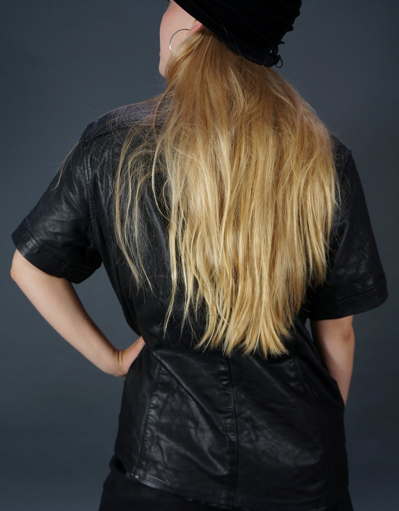 90s Leather Shirt