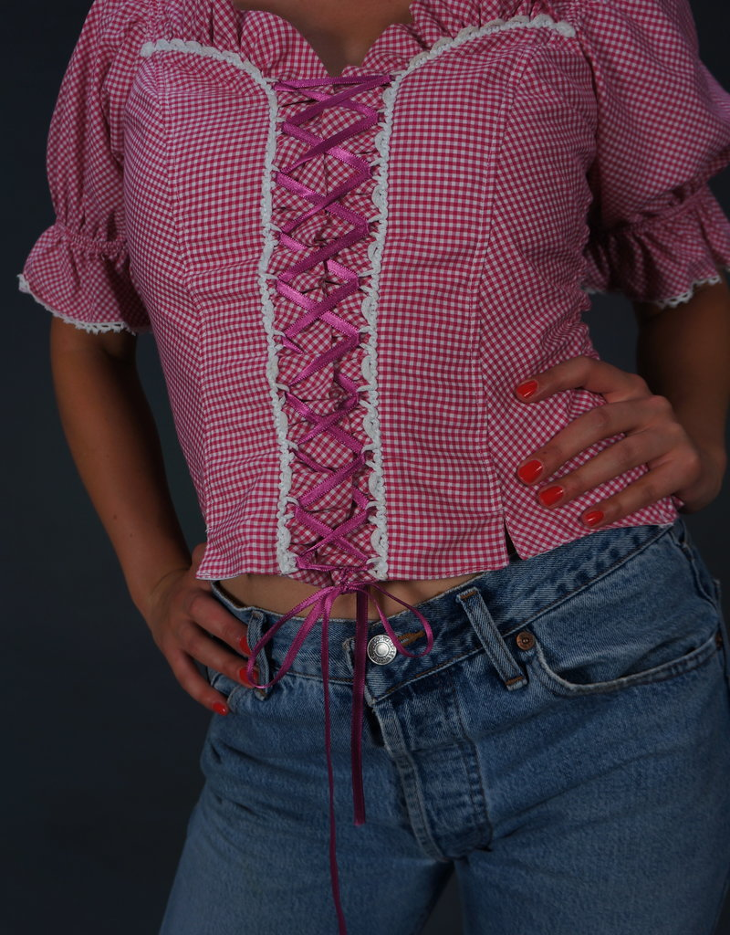 Milkmaid Gingham Blouse