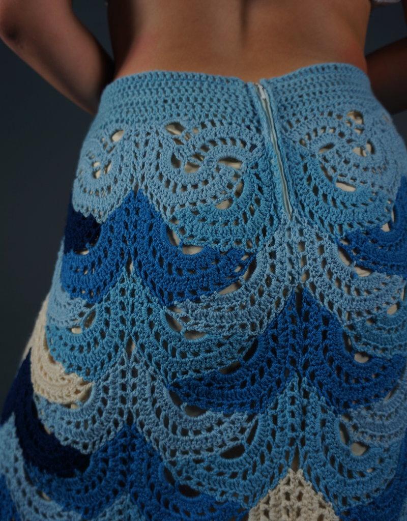 70s Crochet Maxi Skirt