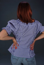 Milkmaid Gingham Top Lace