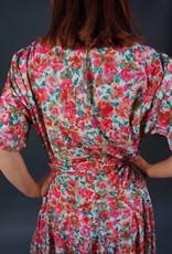 80s Flower Print Dress
