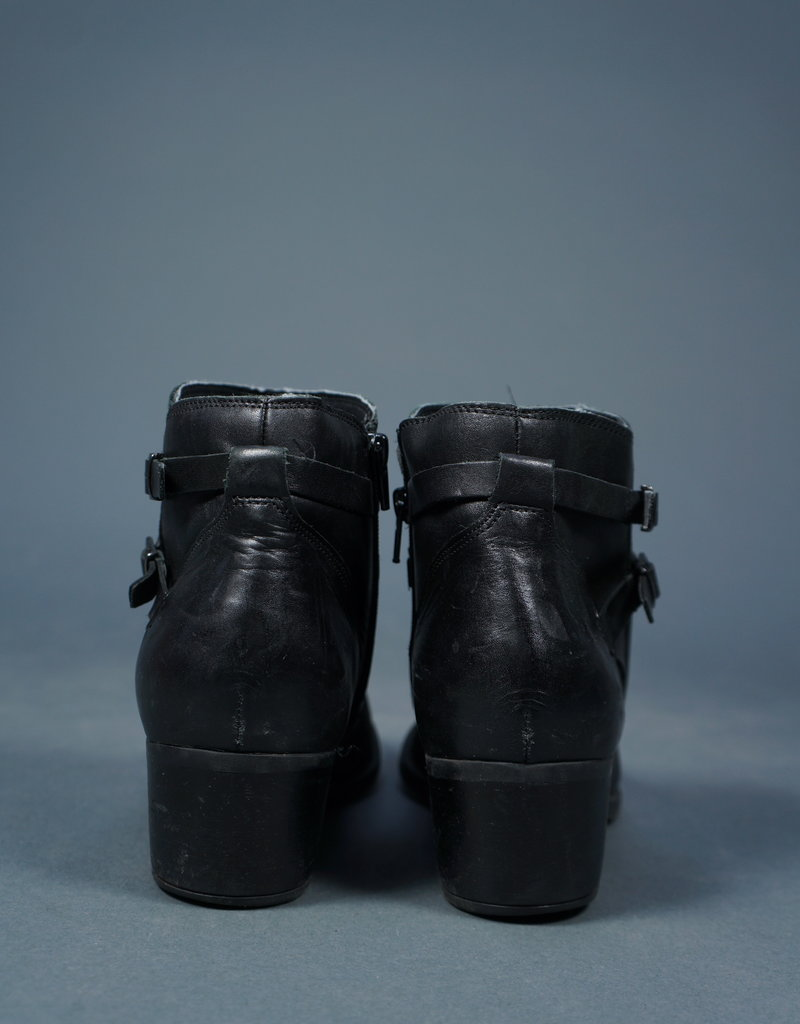 90s Buckle Ankle Boots