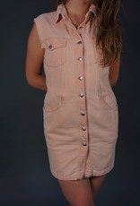 90s Button Up Jeans Dress