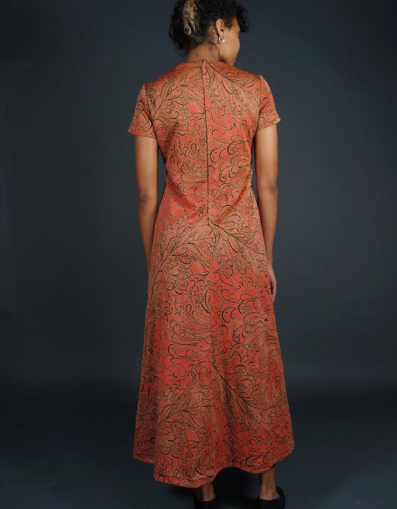 70s Maxi Dress Glitter