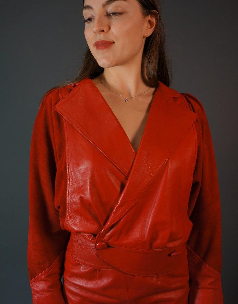 Leather Co-ord Set Lori