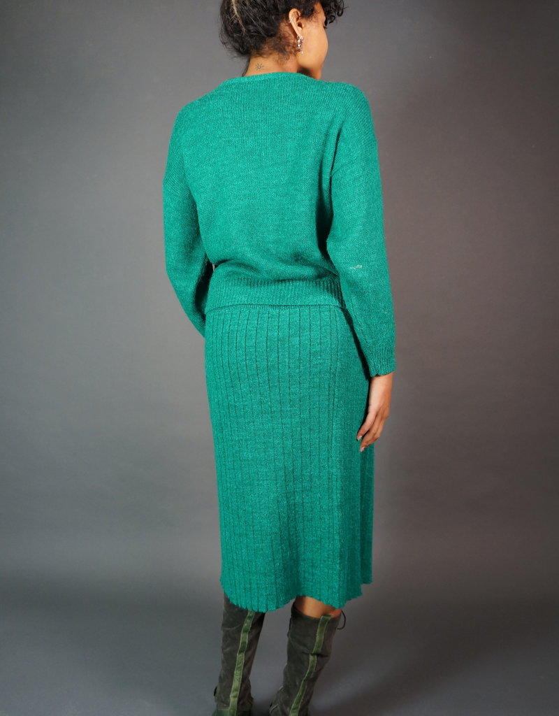 Green Knitted Co-ord