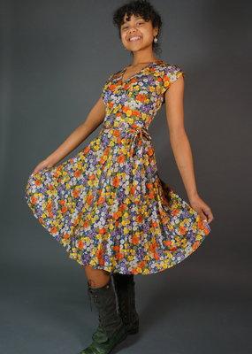 60s Flower Dress Heather