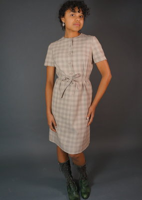 60s Plaid Dress