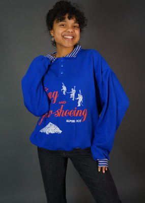 80s Sweater Alpine Skiing