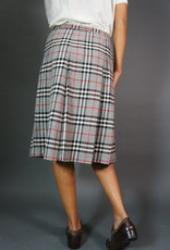 Burberrys Plaid Wool Skirt