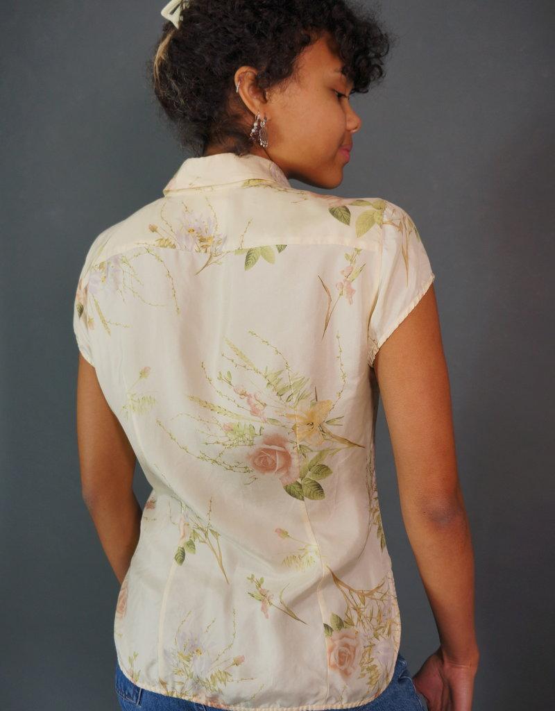 MaxMara Silk Flower Blouse