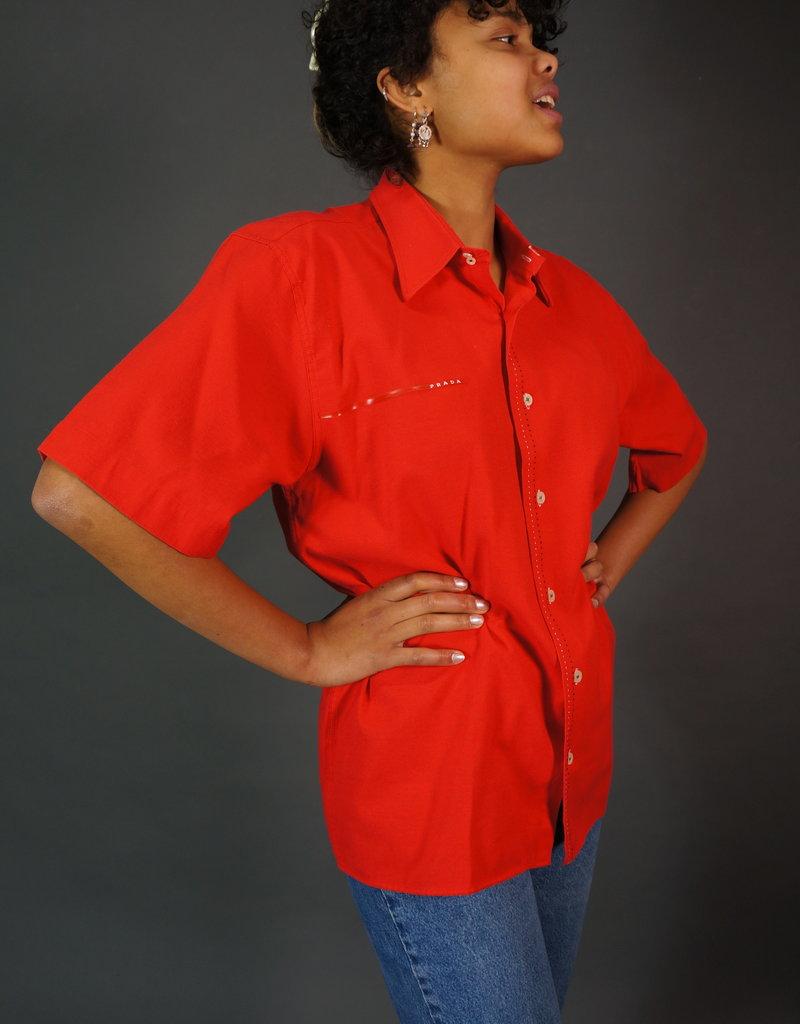 Prada Red Blouse