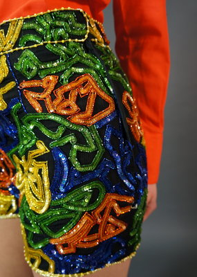 Sequin 90's Mini Shorts