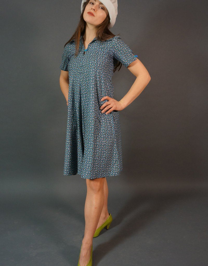 70s Floral Midi Dress Emilia