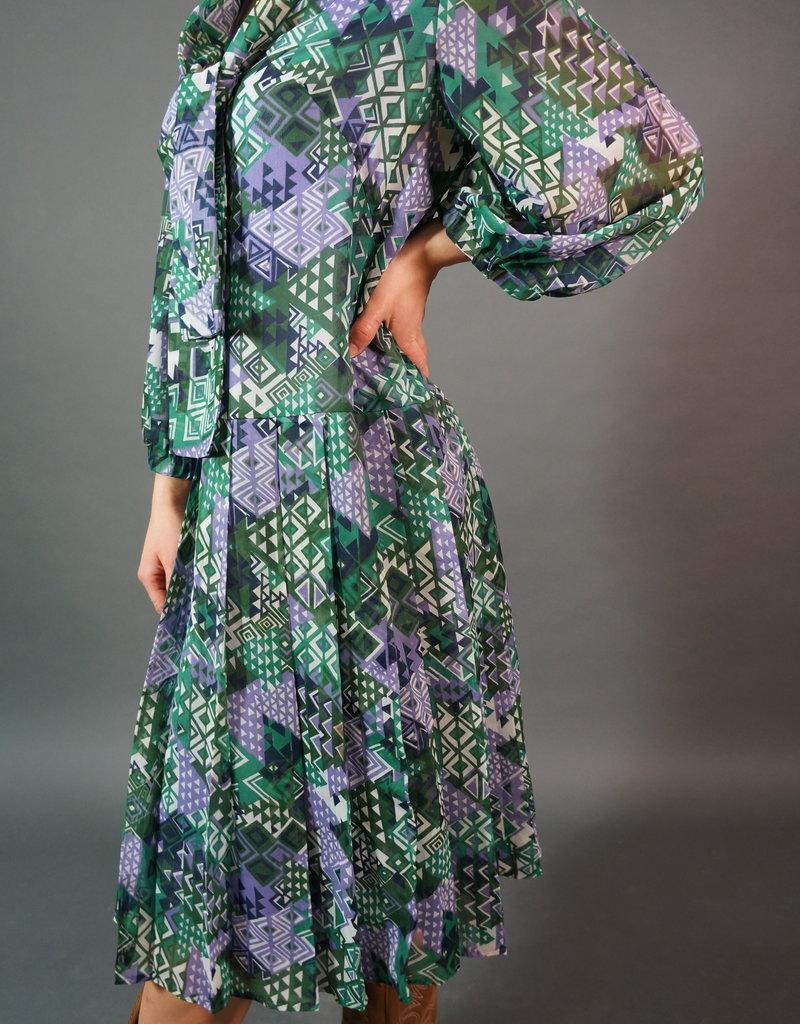 70s Trixie Printed Midi Dress