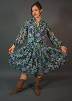 70s Trixie Printed Midi Dress