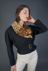 Fake Fur Leopard Blazer