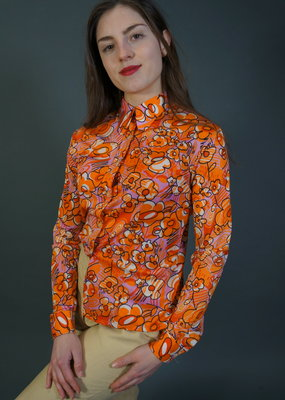 70s  Blouse Sherry