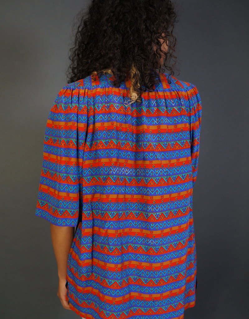 Ted Ladipus Silk Graphic Blouse