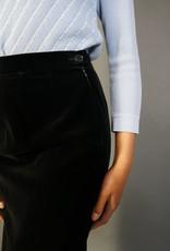 Hermes Velvet Pencil Skirt