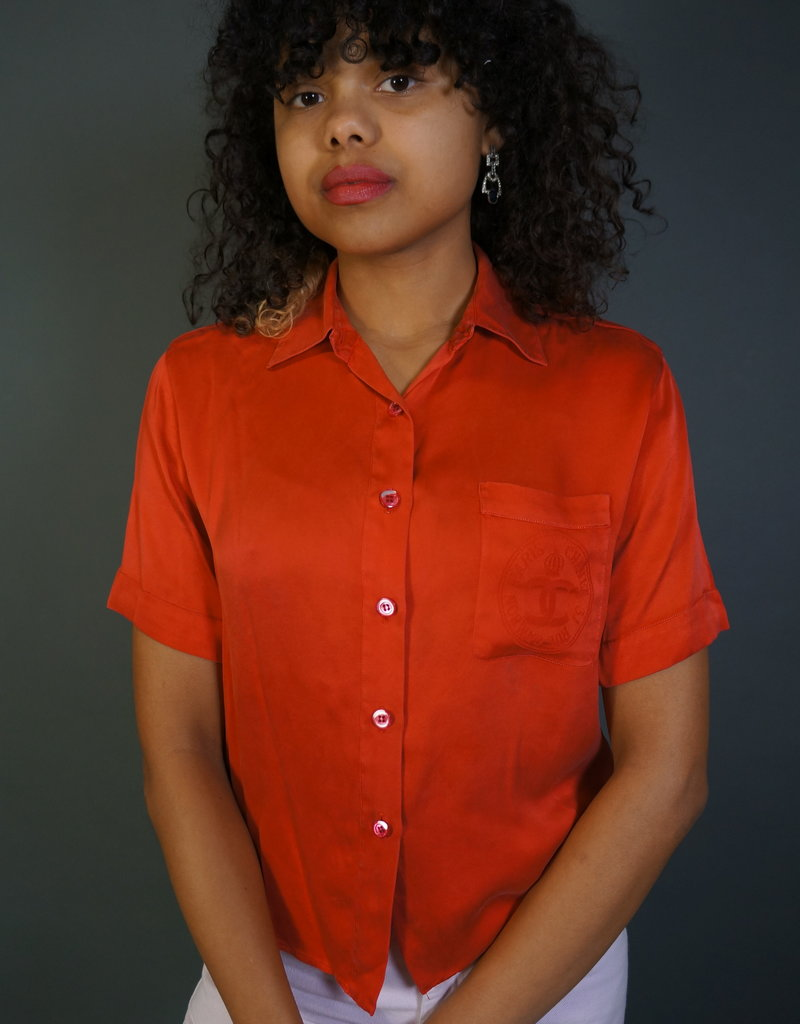 Red Chanel Blouse