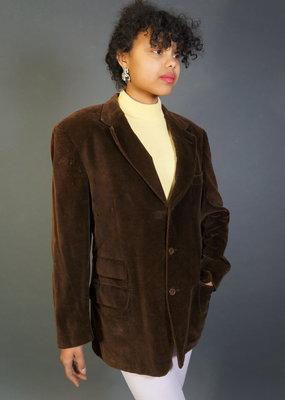 Brown Gucci Velvet Blazer