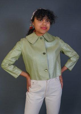 Lime Leather 60s Blazer Doris