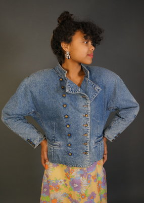 Double-Breasted Jeans Jacket Gloria