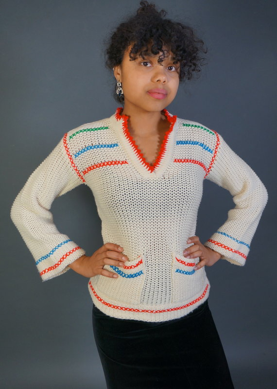 70s Knitted Sweater Eve