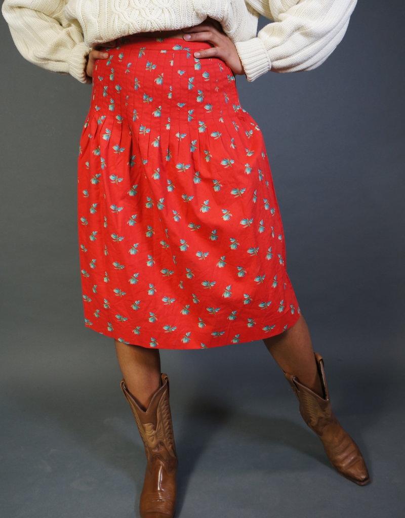 Yves Saint Laurent Pleated Flower Skirt