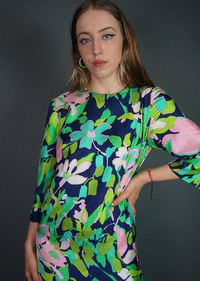 70's Handmade Flower Dress
