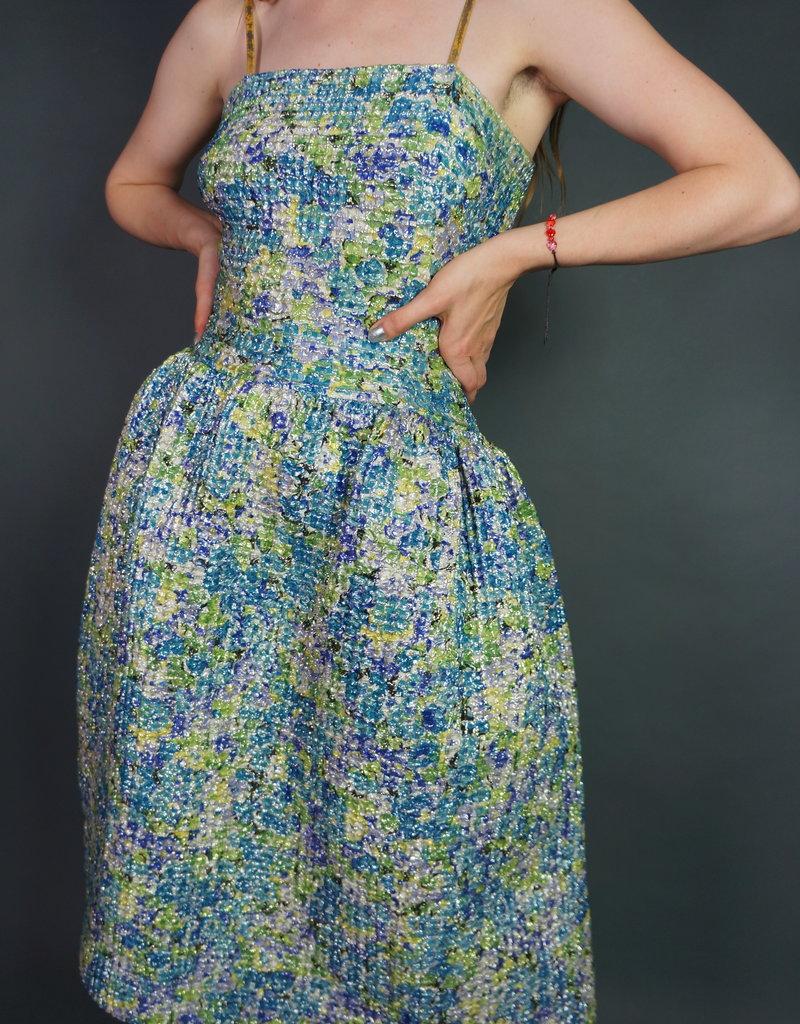 50's Handmade  Textured Glitter Dress