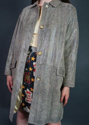 Nina Ricci Snake Print Leather Coat