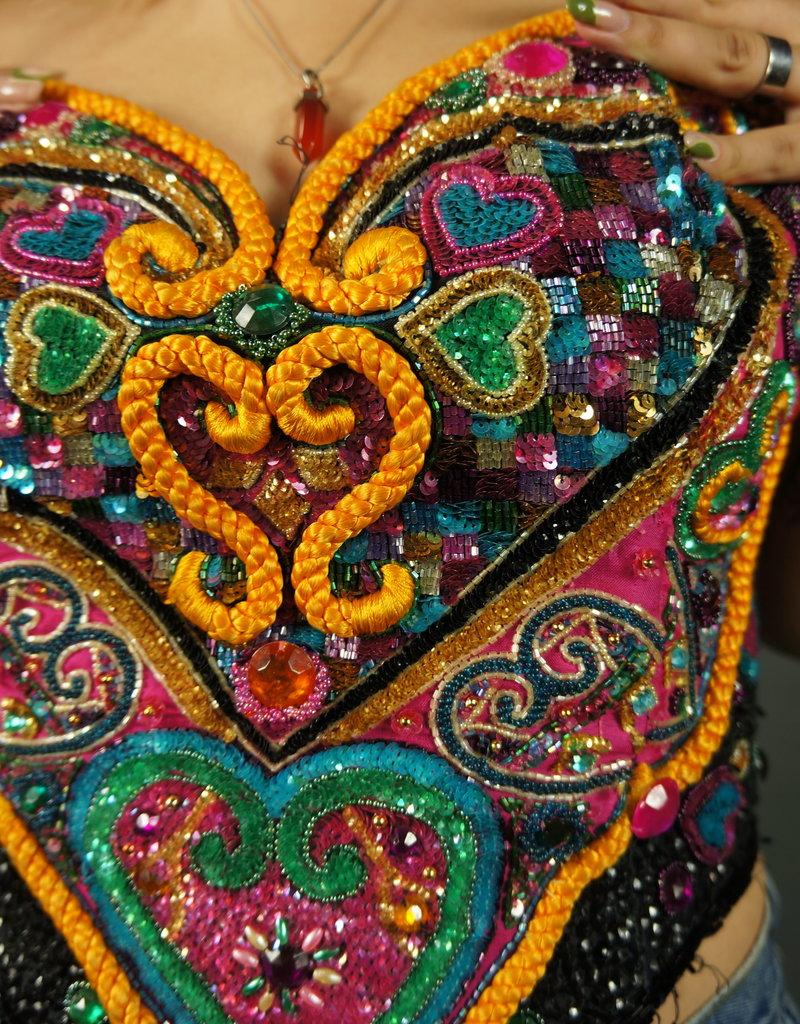 Queen of Hearts Sequin Bustier Top
