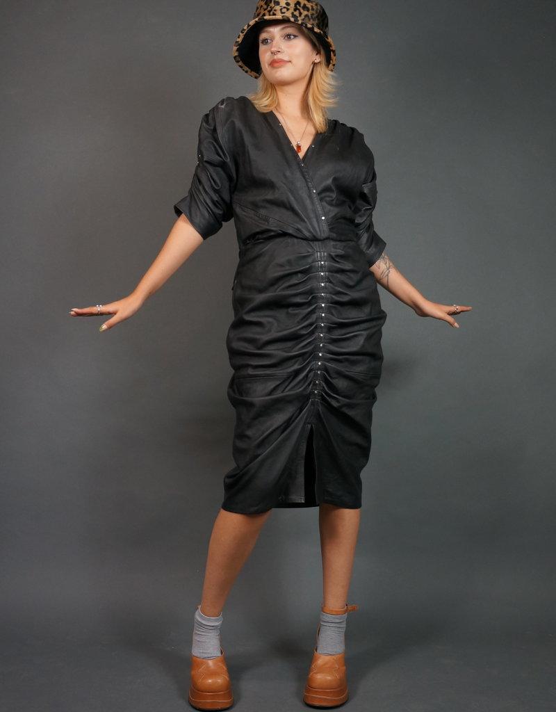 80's Leather Dress Tina