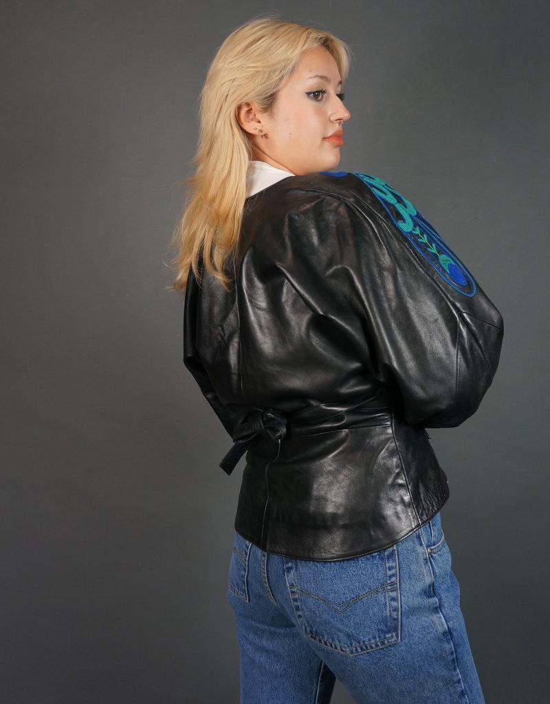 Jean Claude Jitrois Peacock Leather Jacket