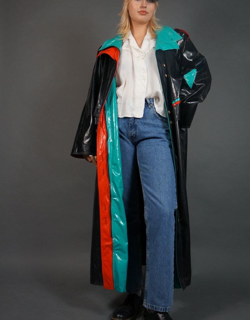 Shiny Retro Raincoat