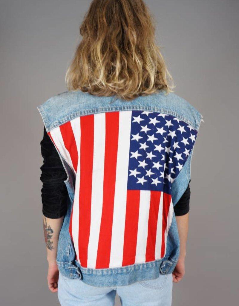 Levi's Customized Sleeveless Denim Jacket USA