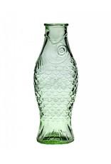 Glazen fles vis