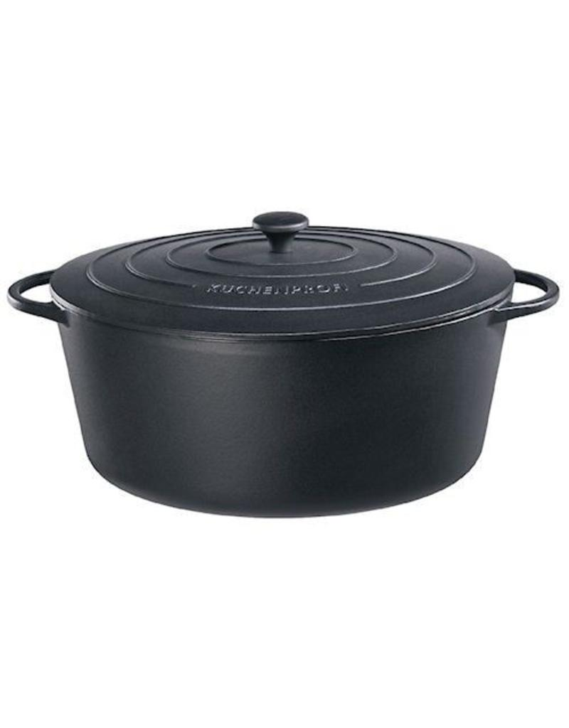 Küchenprofi Provence gietijzer ovaal 40 cm Zwart