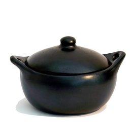 Black Pottery 18-3 Stoof/braadpan met deksel laag 29x17