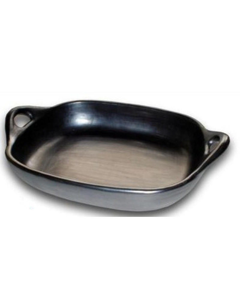 Black Pottery 29-6 Ovenschaal met greep