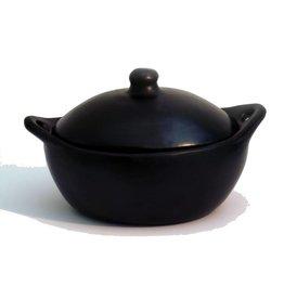 Black Pottery 12-3 Ovale pan met deksel 33x23x13