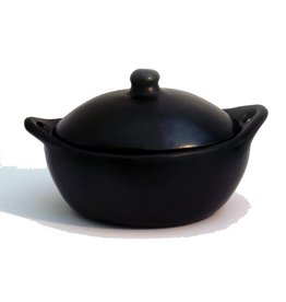 Black Pottery 12-4 Ovale pan met deksel 35x25x13