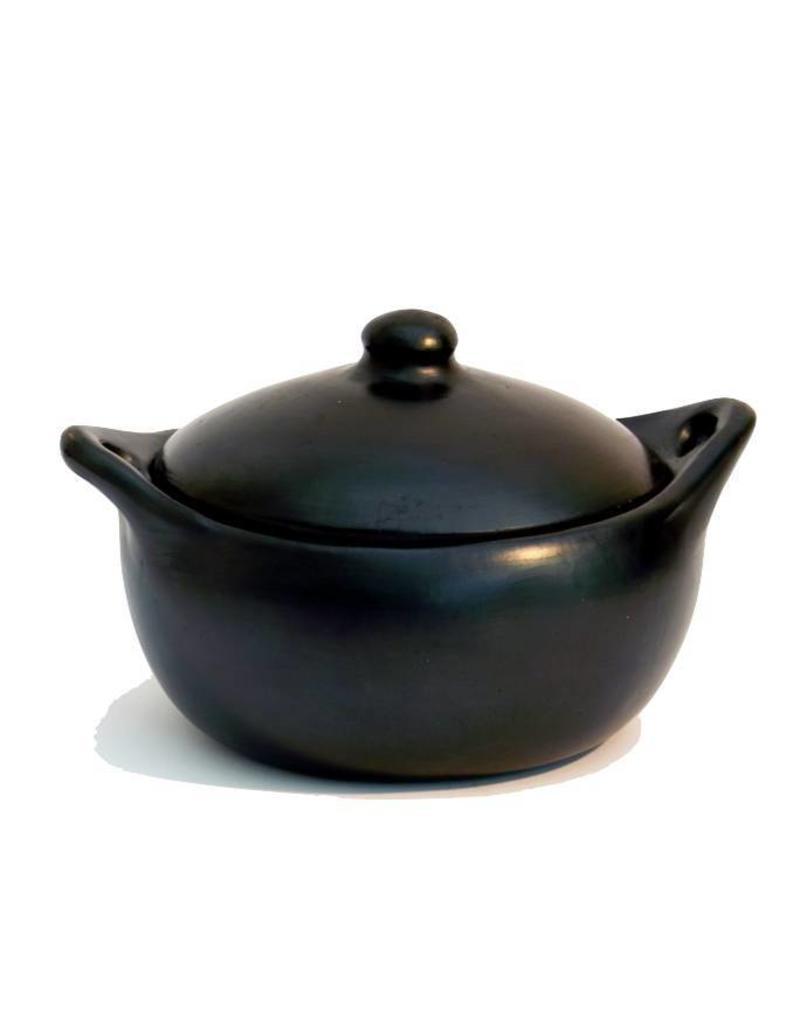 Black Pottery 18-2 Stoof/braadpan met deksel laag 24x15