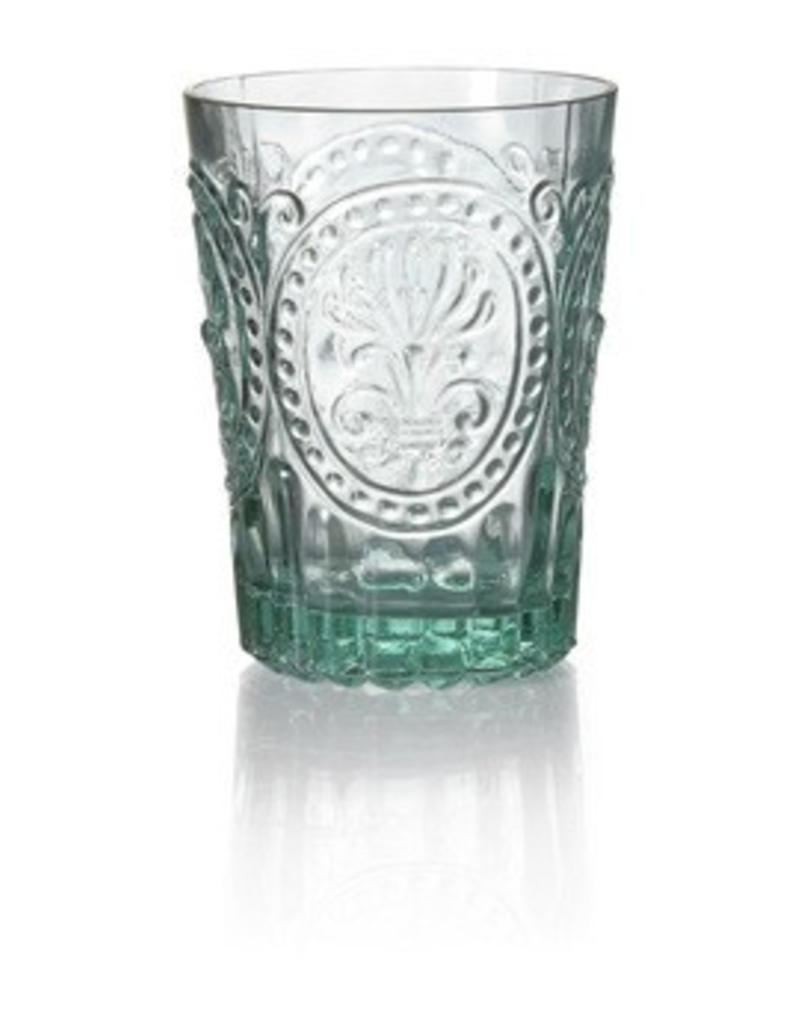 Van Verre Portugees glas klein Blauw Fleur de Lys