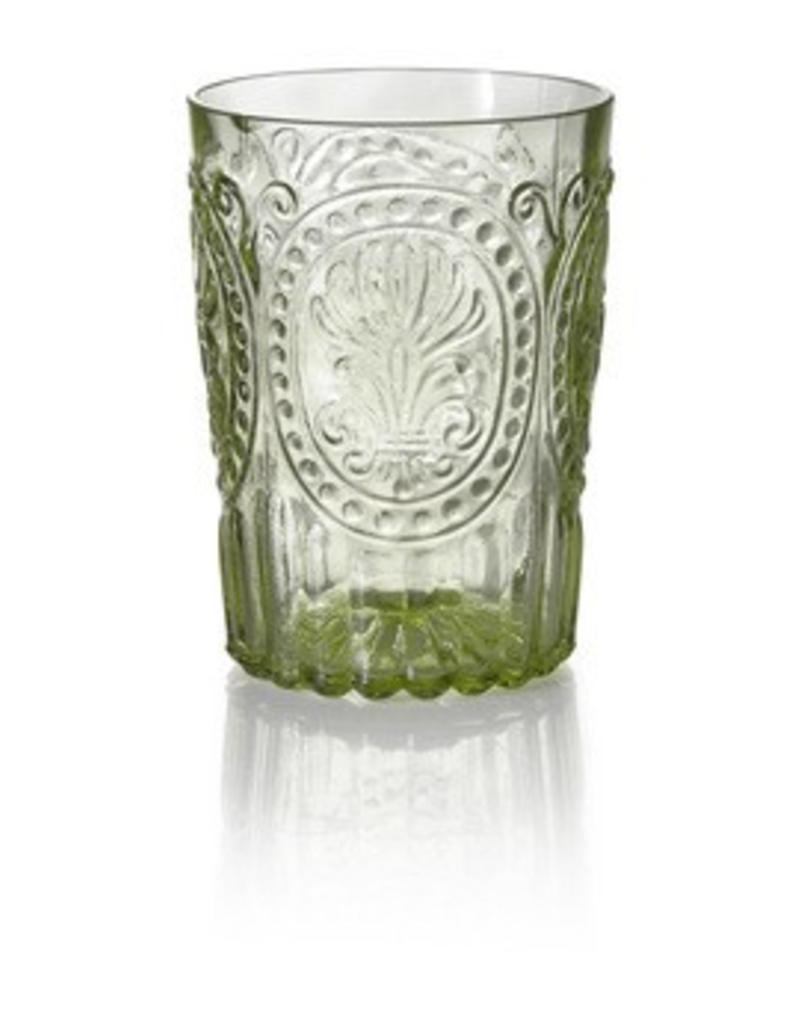 Van Verre Portugees glas klein Groen Fleur de Lys