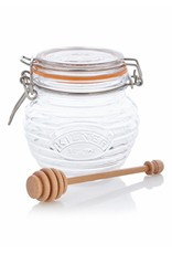 Kilner Honingpot glas met houten honingdraaier